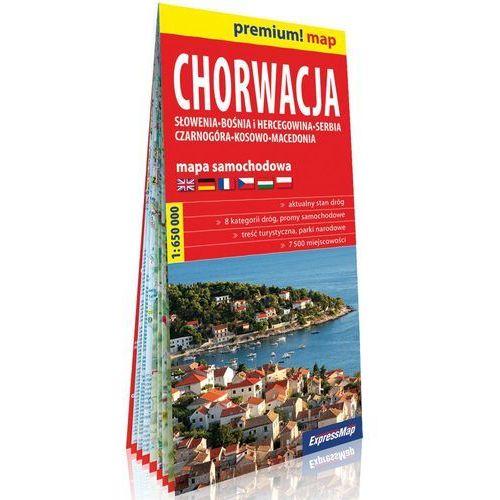 Chorwacja Słowenia, Bośnia i Hercegowina, Serbia, Czarnogóra, Kosowo, Macedonia mapa samochodowa 1:650 000, Expressmap