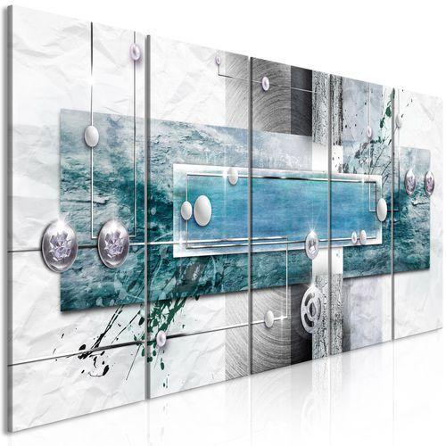Artgeist Obraz - tajemniczy mechanizm (5-częściowy) wąski niebieski