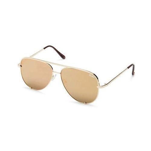 Okulary Słoneczne Quay Australia QC-000268 HIGH KEY MINI GOLD/GOLD, kolor żółty