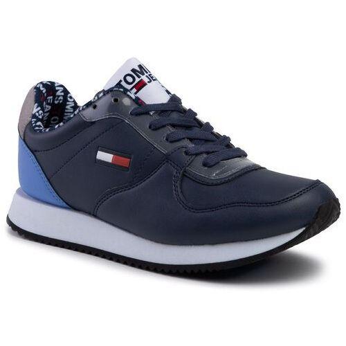 Sneakersy TOMMY JEANS - Wmns Casual Tommy Jeans Sneaker EN0EN00719 Black Iris CBK, w 5 rozmiarach