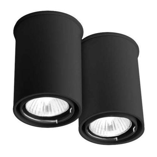 Spot lampa sufitowa osaka 1120/gu10/cz natynkowa oprawa tuby downlight czarny marki Shilo