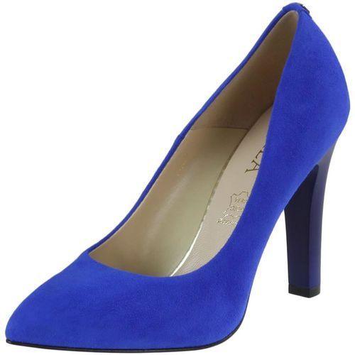 Czółenka 7059 - niebieskie zamsz 601 marki Sala