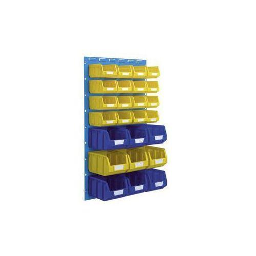 Zestaw otwartych pojemników magazynowych,do 2 paneli o wys. x szer. 480 x 500 mm