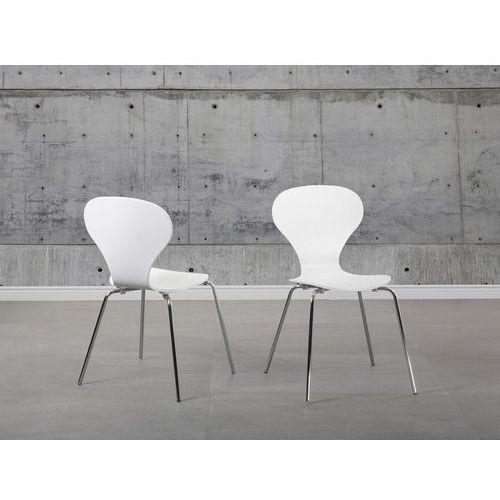 Krzesło do jadalni białe QUEENS (7081454503678)