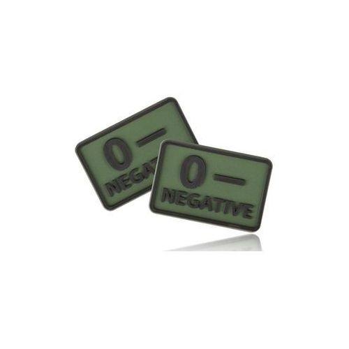naszywka emblemat GRUPA KRWI kpl. 2szt. PVC olive green (OD-BLP-RB-02), OD-BLP-RB-02