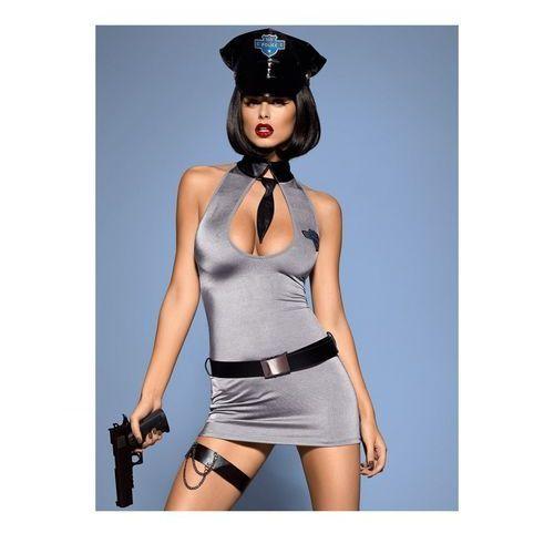 Police dress kostium l/xl marki Obsessive (pol)