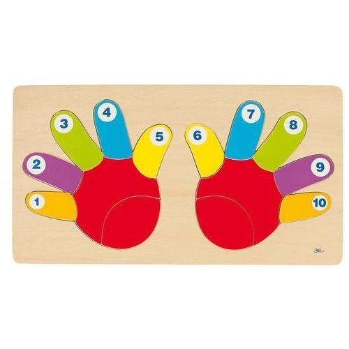 Goki  puzzle dłonie - nauka liczenia, kategoria: puzzle