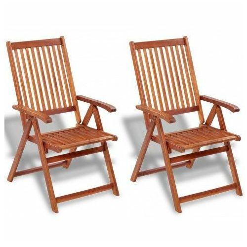 Drewniane krzesła ogrodowe pasadena 2 szt marki Elior