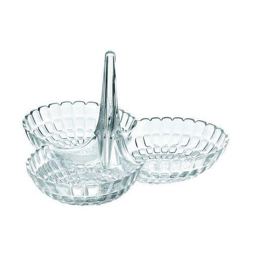 Miseczka na przekąski Tiffany potrójna transparentna (8008392277248)