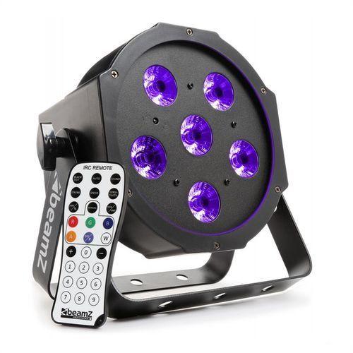 beamZ BFP130 Projektor FlatPAR LED 6x 6 W UV LED DMX pilot na podczerwień, kup u jednego z partnerów