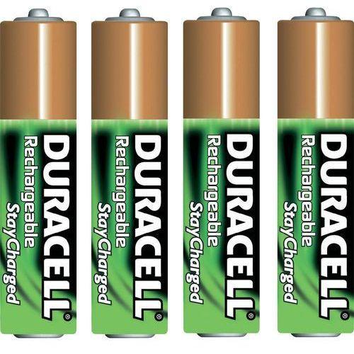 Zestaw 4 akumulatorków NiMH Duracell StayCharged AAA, 1,2V, 800 mAh - sprawdź w wybranym sklepie
