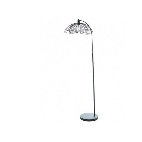 Ażurowa lampa podłogowa mania – styl design – żelazo – wysokość 163 cm – kolor czarny marki Vente-unique