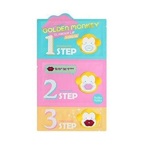 Holika Holika, 3-Step Golden Monkey. Maska oczyszczająca na usta - HOLIKA HOLIKA