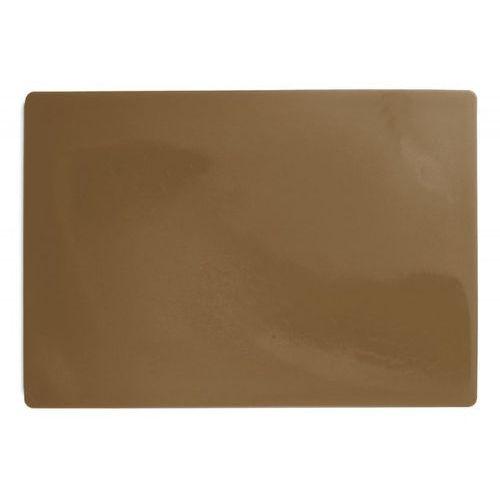 Deska polietylenowa HDPE do krojenia, HACCP, brązowa, wymiary 49,5x35x2 cm, XANTIA 78561