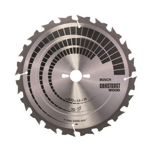 Bosch accessories Tarcza do piły tarczowej construct wood, 300 x 30 x 2,8 mm, 20 2608640700, 1 szt.