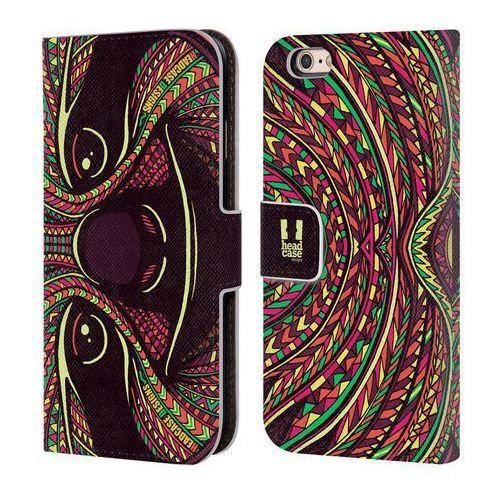 Head case Etui portfel na telefon - azteckie twarze zwierząt leniwiec