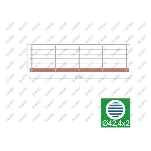 Umakov Balustrada nierdzewna aisi304, d42,4/4xd12/h900/l6