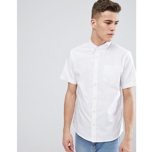 D-Struct Basic Oxford Short Sleeve Shirt - White