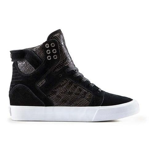 Buty - womens skytop wedge black-white (blk) rozmiar: 39, Supra