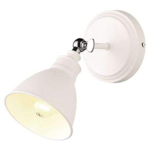 Mlamp Kinkiet lampa ścienna watso k-8005w-1 wh loftowa oprawa metalowa kopuła biała (5901425596060)