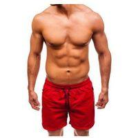 Krótkie spodenki kąpielowe męskie czerwone Denley 5066, szorty
