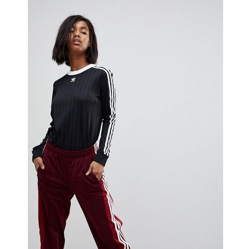 adidas Originals adicolor Three Stripe Jersey In Black - Black, kolor czarny