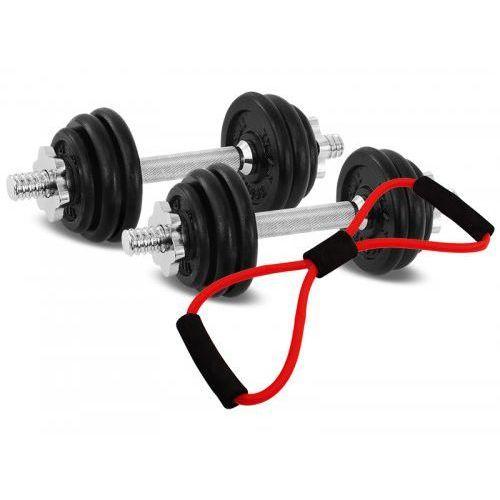Hantle żeliwne zestaw 2x7,5 kg Tytan Sport 15 kg + ekspander, 9028