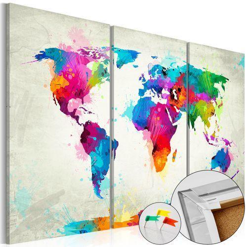 Obraz na korku - kolorowa ekspresja [mapa korkowa] marki Artgeist