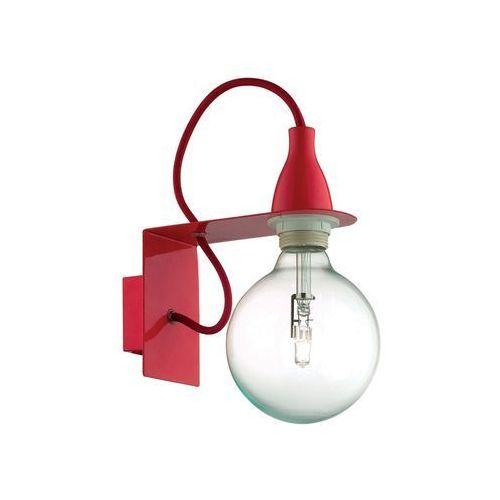 Ideal lux Minimal ap1 45221 kinkiet czerwony 1x70w e27 l
