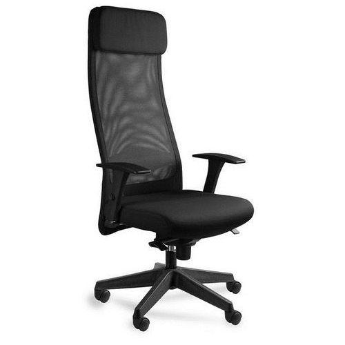 Fotel biurowy ares mesh czarny marki Unique