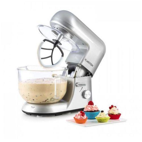 Klarstein Bella Argentea 2G Robot kuchenny ze szklana misa 1200W 2,5/5,2l srebrn (4260509682923)