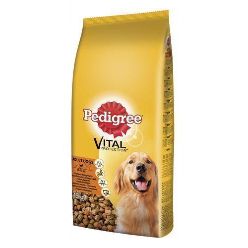 PEDIGREE Vital Protection dorosły drób i warzywa 15 kg- RÓB ZAKUPY I ZBIERAJ PUNKTY PAYBACK - DARMOWA WYSYŁKA OD 99 ZŁ (karma dla psa)