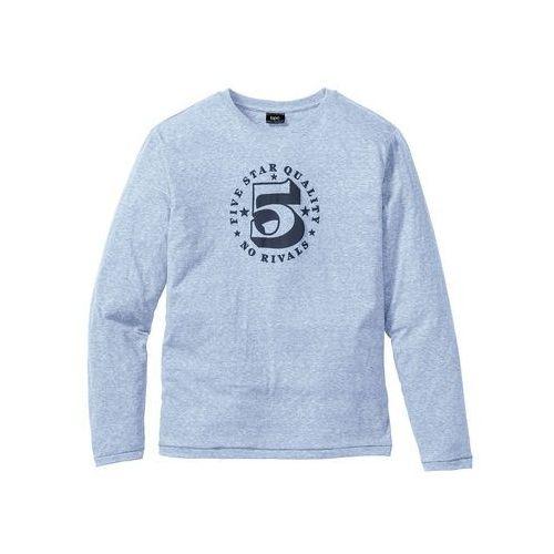 Bonprix Shirt z długim rękawem regular fit  jasnoniebieski melanż