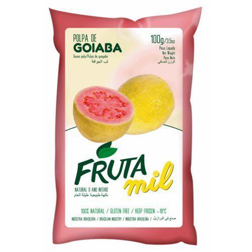 Gujawa guawa naturalny miąższ (puree owocowe, pulpa, sok z miąższem) bez cukru 2 kg marki Frutamil comércio de frutas e sucos ltda