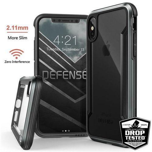 X-Doria Defense Shield - Etui aluminiowe iPhone Xs / X (Drop test 3m) (Black)