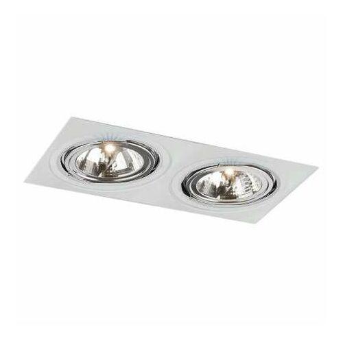 Podtynkowa LAMPA sufitowa KOMORO H 3350/GU10/BI Shilo prostokątna OPRAWA metalowa WPUST regulowany biały (5903689973311)