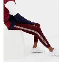 big & tall taped joggers in burgundy - red, Burton menswear, XS-XL