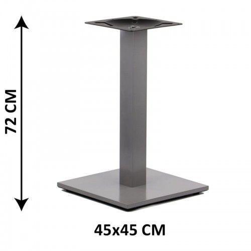 Podstawa stolika SH-2011-2/A, 45x45 cm, (stelaż stolika), kolor aluminium