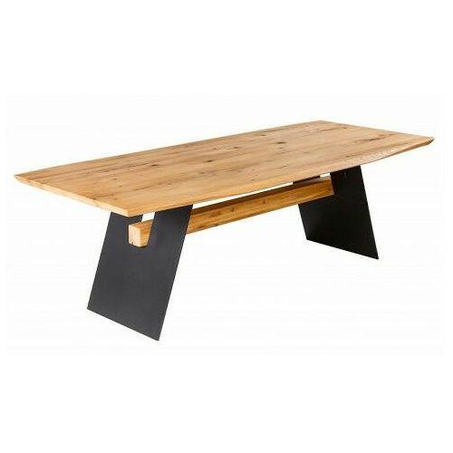Elior Nowoczesny stół z drewnianym blatem - remes 2x