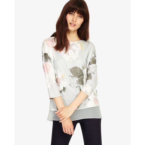 Phase Eight Bertha Floral Top, kolor czerwony