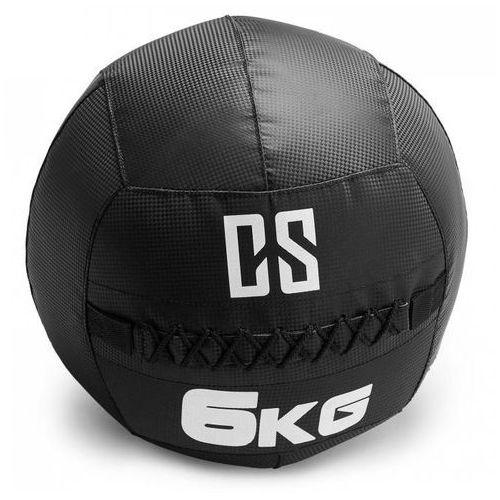 Capital sports Bravor piłka lekarska wall ball pcv podwójne szwy 6kg czarna