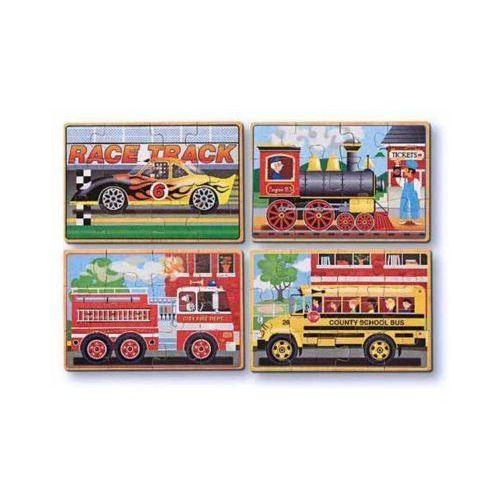 Puzzle drewniane MELISSA & DOUG Pojazdy 13794 (0000772137942)