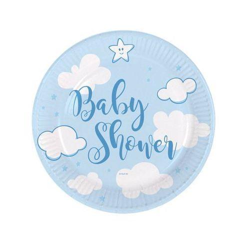 """Folat Talerzyki papierowe """"baby shower- boy"""", błękitne, , 18 cm, 8 szt (8714572653503)"""
