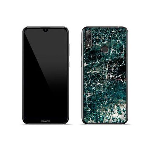 Huawei Y7 Prime (2019) - etui na telefon Fantastic Case - zielony marmur, kolor zielony