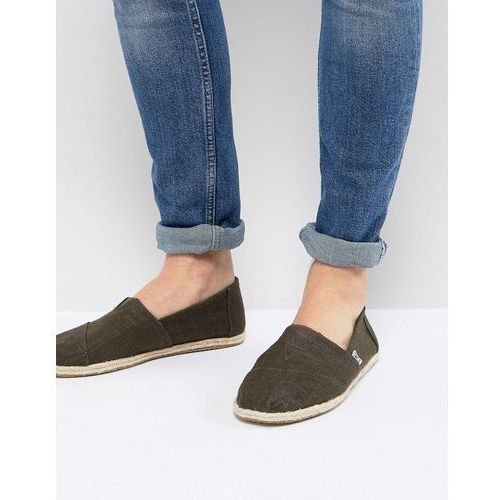 classic linen espadrilles in olive - green, Toms