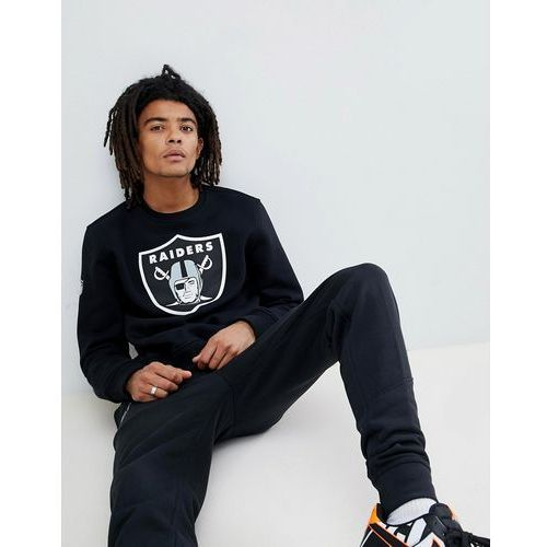 New Era Oakland Raiders Sweatshirt With Large Logo In Black - Black