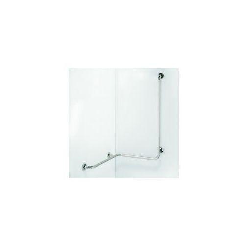 HELP Poręcz pod prysznic z pionową podporą, prawa stal nierdzewna 301122021 (8592207002786)