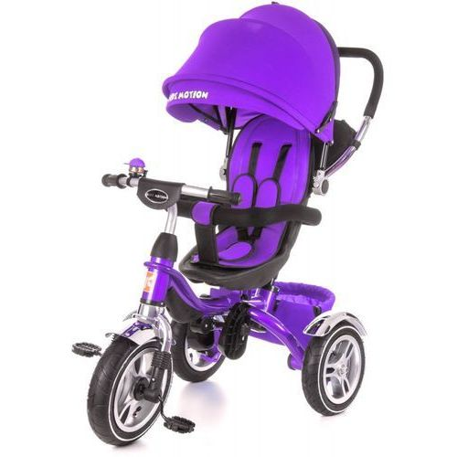 Kidz motion Rowerek trójkołowy tobi pompowane koła kidzmotion fioletowy - fioletowy (5906395302208)