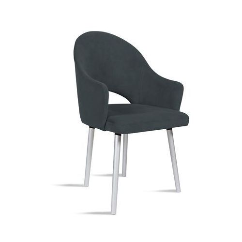 Krzesło BARI ciemny szary/ noga silver/ TR15, kolor szary