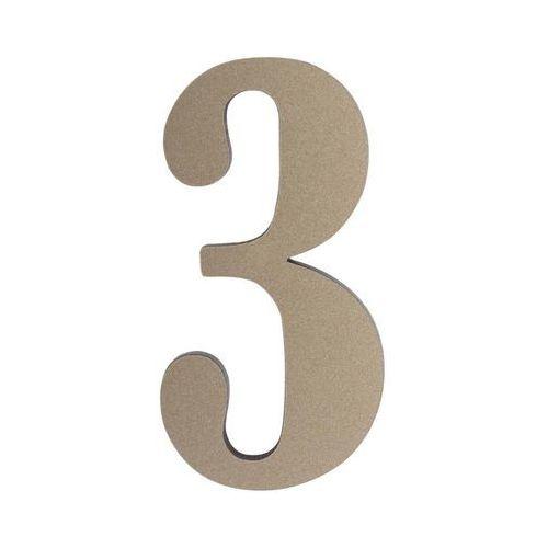 Cyfra 3 wys. 5 cm PVC srebrna (5905367001705)